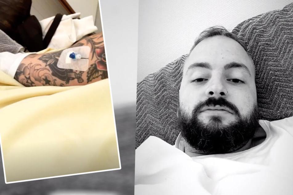 Julian Mengler zeigte sich am Montag aus dem Krankenhaus. (Montage)