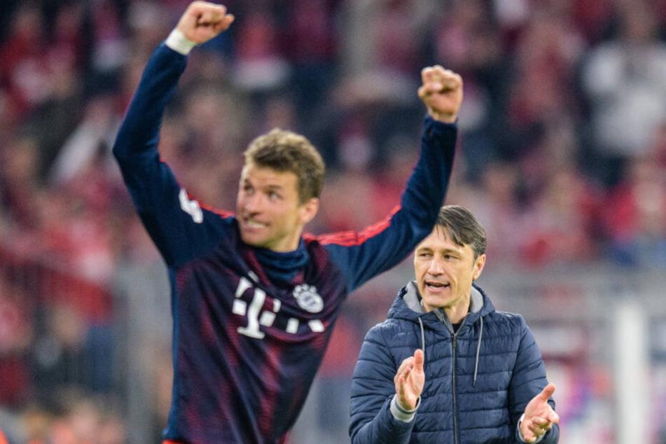 Auch Thomas Müller ist zuversichtlich, dass es mit der Meisterschaft klappt. (Archivbild)