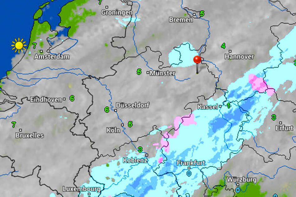 Wolken und Wind: In OWL ist Schnee über Weihnachten nicht in Sicht.