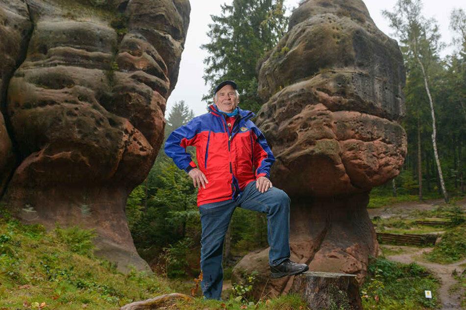 Ein Leben lang Bergretter: Am Kelchstein kletterte Erhard Seeliger (81) schon als Jugendlicher.