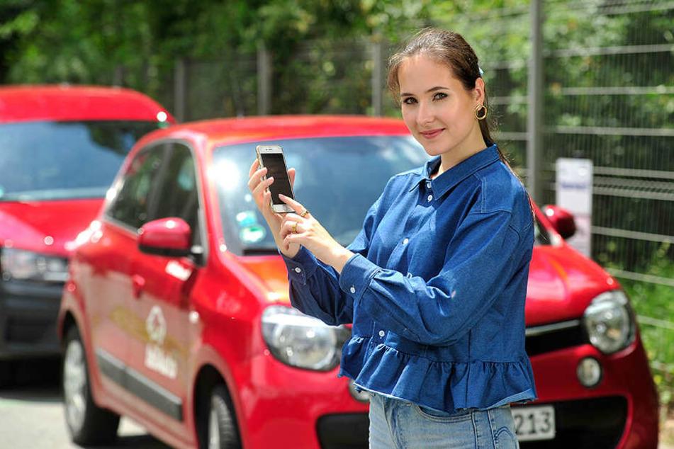 """TAG24-Reporterin Isabel Möller (22) testet die """"teilAuto""""-App und bucht sich mal eben einen Leihwagen."""