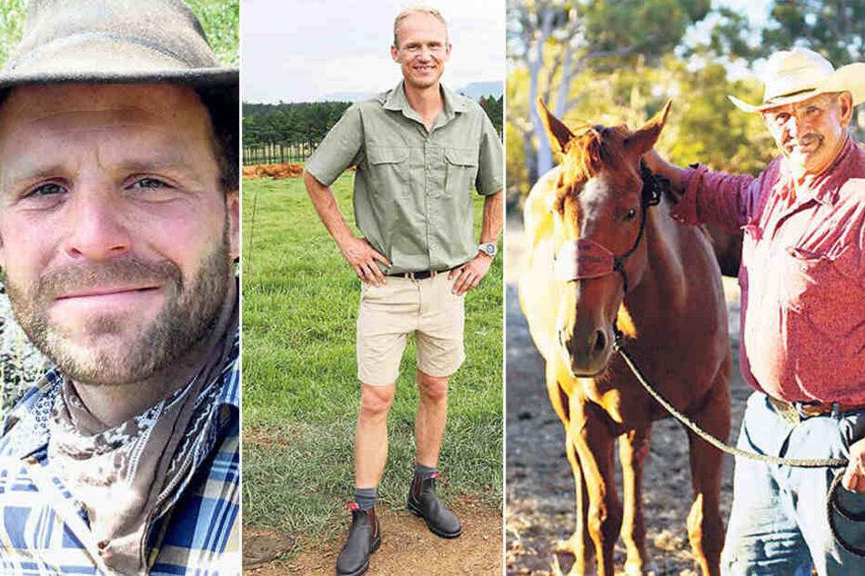v.li.: Landwirte aus Übersee: Marco aus Chile, Rüdiger aus Südafrika und Rainer aus Australien.