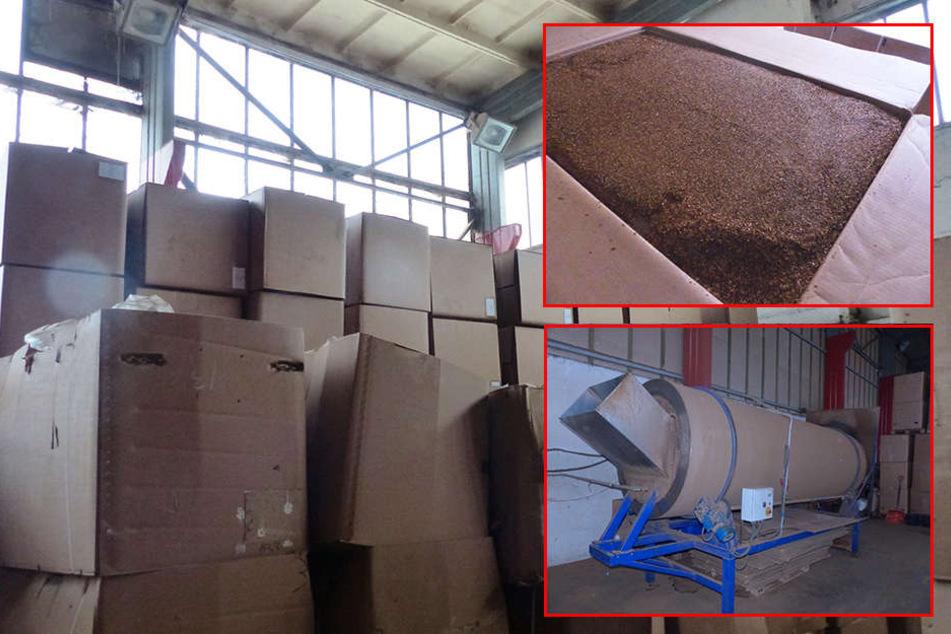 Illegale Fabrik in Sachsen enttarnt: 120 Tonnen Tabak beschlagnahmt!
