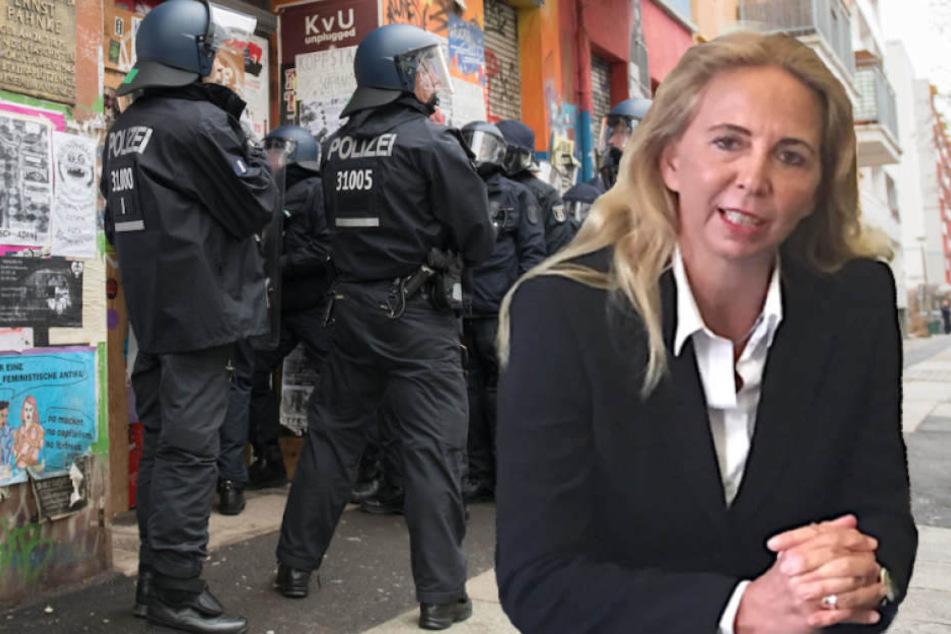Polizei-Präsidentin Barbara Slowik (52) hofft auf viele Bewerber aus dem EU-Ausland. (Bildmontage)