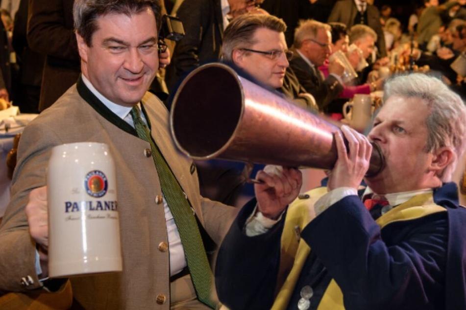 Traditionelle Politiker-Verarsche: Starkbieranstich auf dem Nockerberg