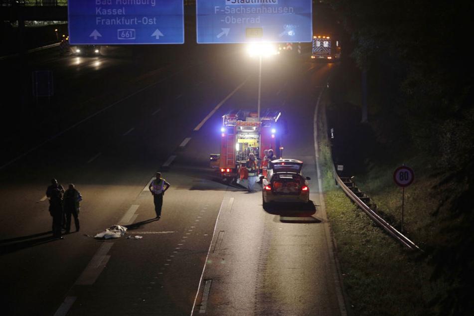 Die Autobahn A661 musste in Richtung Norden voll gesperrt werden.