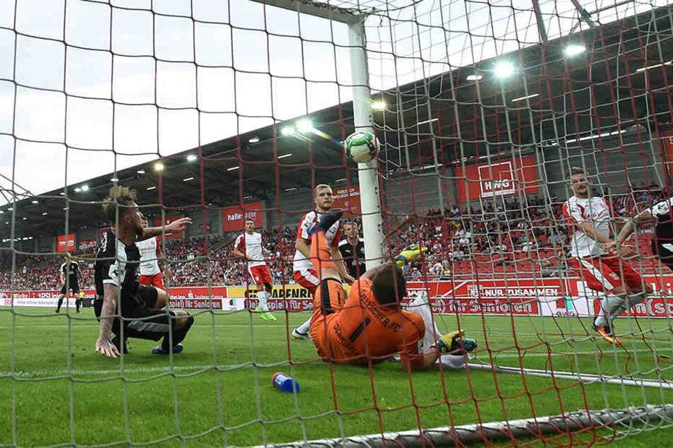 Timmy Thiele traf zum 0:1 und erzielt das erste Jenaer Saisontor.