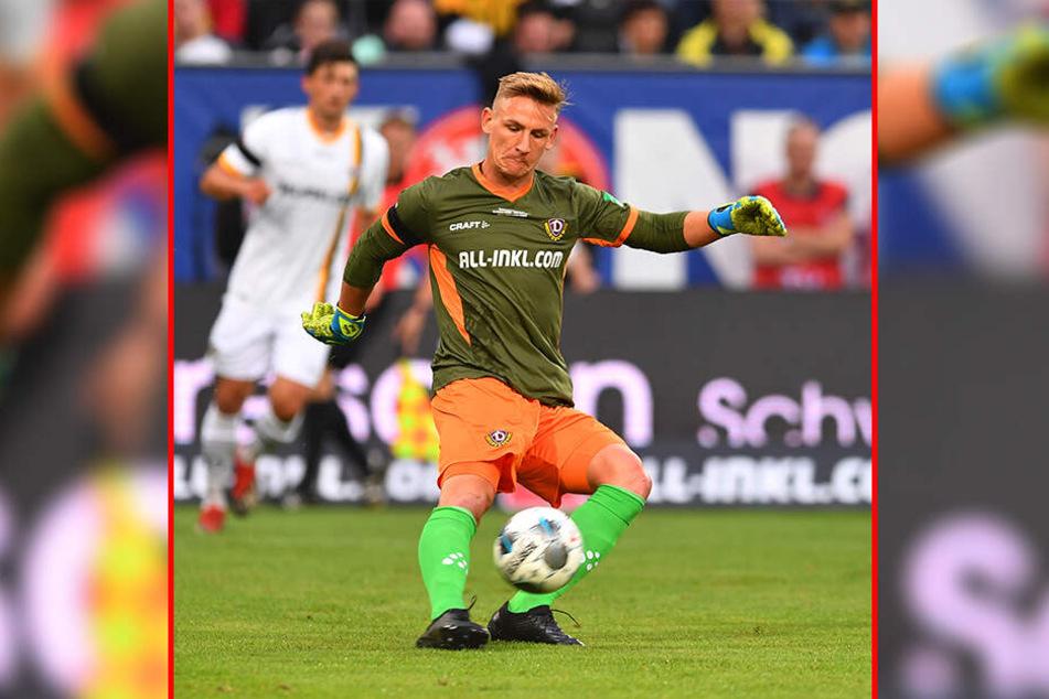 Ein Keeper sollte heute auch ein guter Fußballer sein: Dynamos Nr. 1 Kevin Broll beweist das seit einigen Wochen.