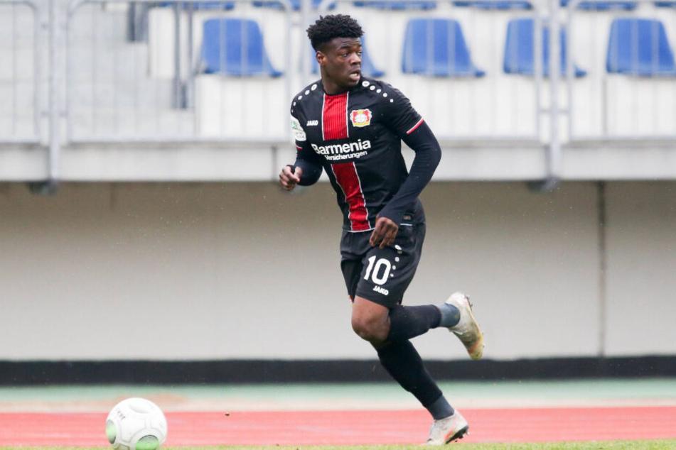 Herdi Bukusu war in der vergangenen Saison für die A-Junioren von Bayer Leverkusen am Ball.