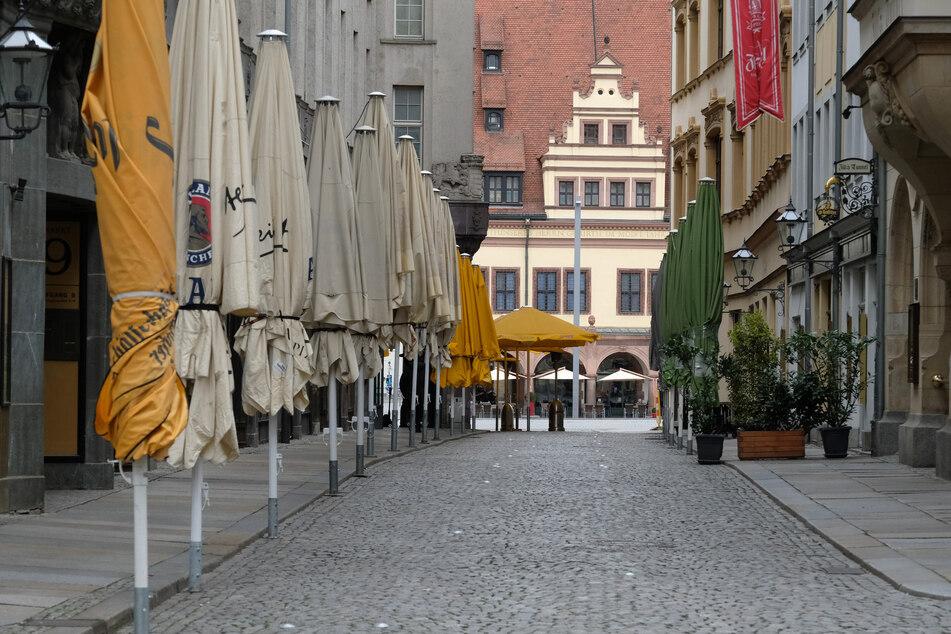 Das Barfußgäßchen im Leipziger Zentrum.
