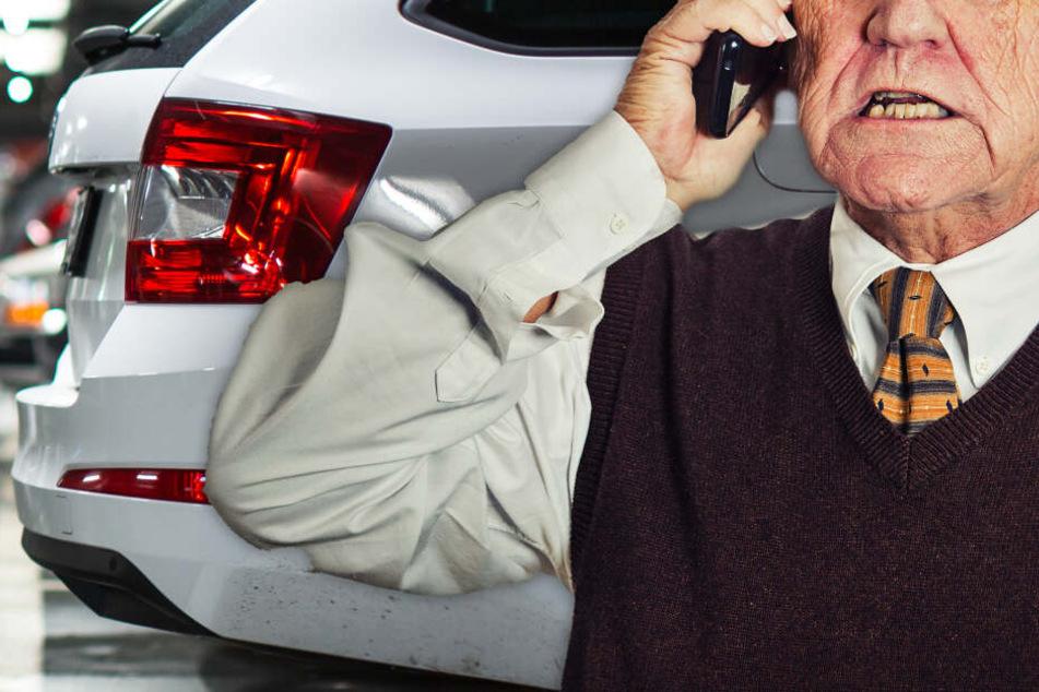 Fotomontage: Nachdem er sein Auto in dem Parkhaus nicht mehr wiederfinden konnte, meldete der 92-Jährige den BMW als gestohlen (Symbolbild).