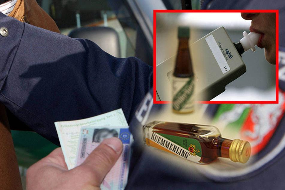 Offenbar war die Frau zu betrunken, um einen Atemalkoholtest durchzuführen. Die Polizisten behielten ihre Fahrerlaubnis ein. (Symbolbild)