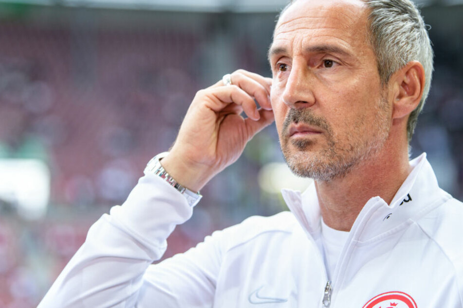 Das Foto vom 14. September zeigt Ade Mütter, den Trainer von Eintracht Frankfurt.