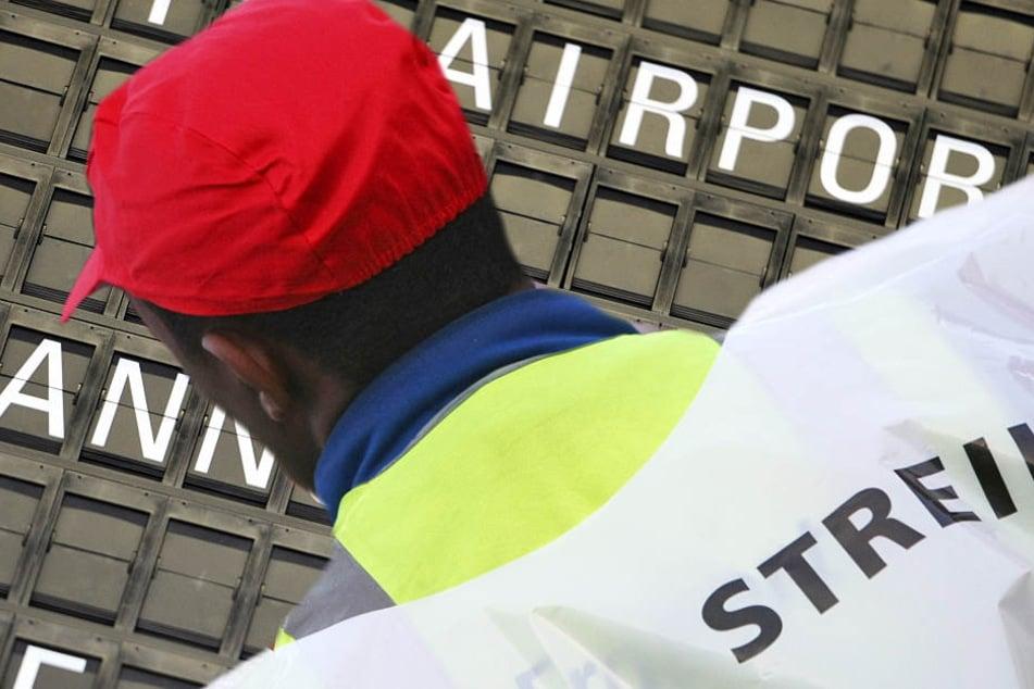 Ein Warnstreik führt am Flughafen Frankfurt zu Verzögerungen und Ausfällen (Symbolbild).