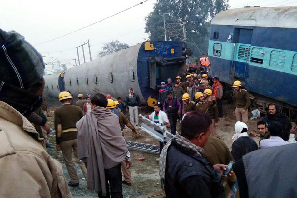 Tote und Verletzte bei schwerem Zugunglück in Indien