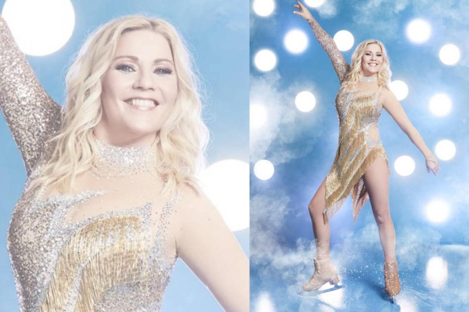 """Etwas Glück benötigte Aleksandra Bechtel schon, um in die zweite Runde von """"Dancing on Ice"""" einzuziehen."""