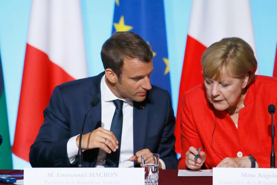 Merkel und Macron wollen die Gelegenheit nutzen, um über aktuelle politische Themen zu reden.