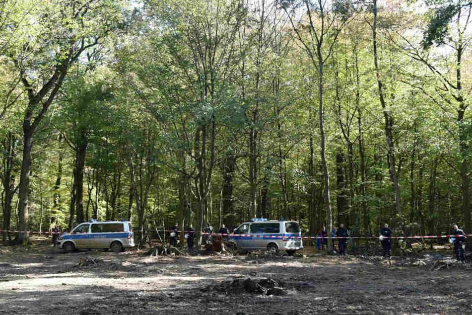 Polizei am Hambacher Forst.