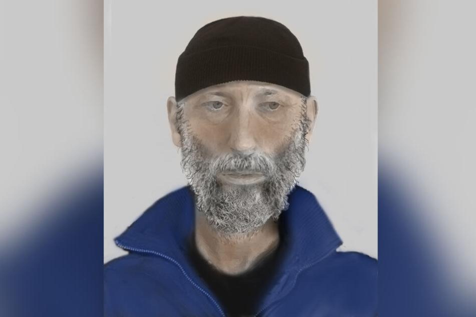 Das Phantombild zeigt den Verdächtigen.