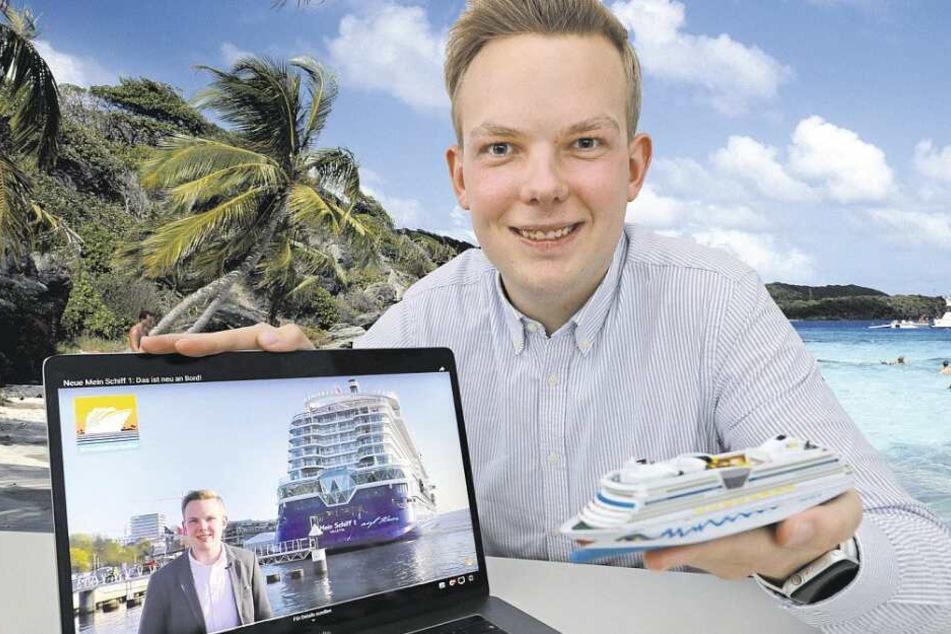 Der 22-jährige Bielefelder begeistert Tausende mit seinem Kreuzfahrten-Blog.