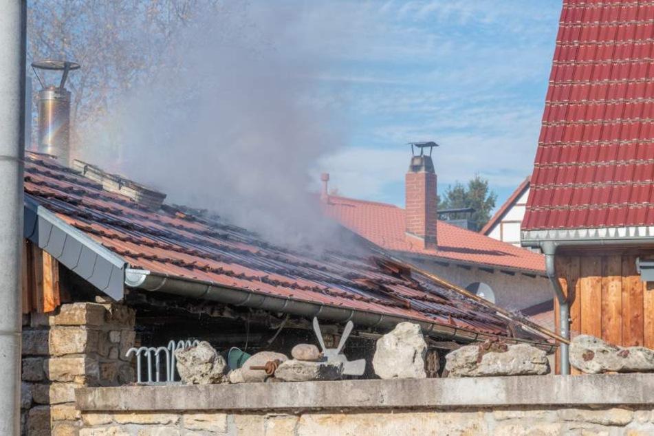 Das neue Backhaus wurde durch das Feuer stark in Mitleidenschaft gezogen.
