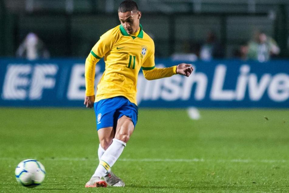 Antony (19) steht im brasilianischen U23-Kader für die anstehende Olympia-Qualifikation. Einer seiner Mitspieler dort ist Leipzigs Matheus Cunha (20).