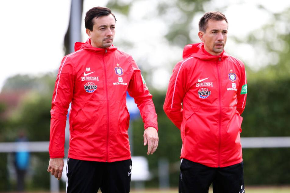 Daniel Meyer (l.) steht bereits in Verhandlungen mit einem anderen Klub.