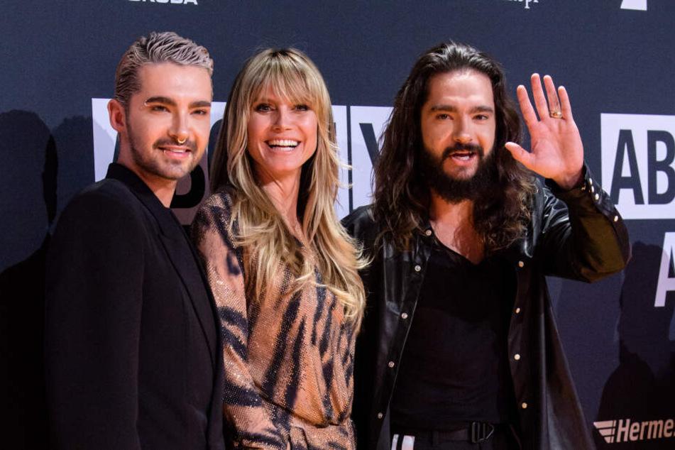 Auch Bill Kaulitz (l), der Zwillingsbruder von Heidis Verlobten Tom, soll bei der Show mitmachen.