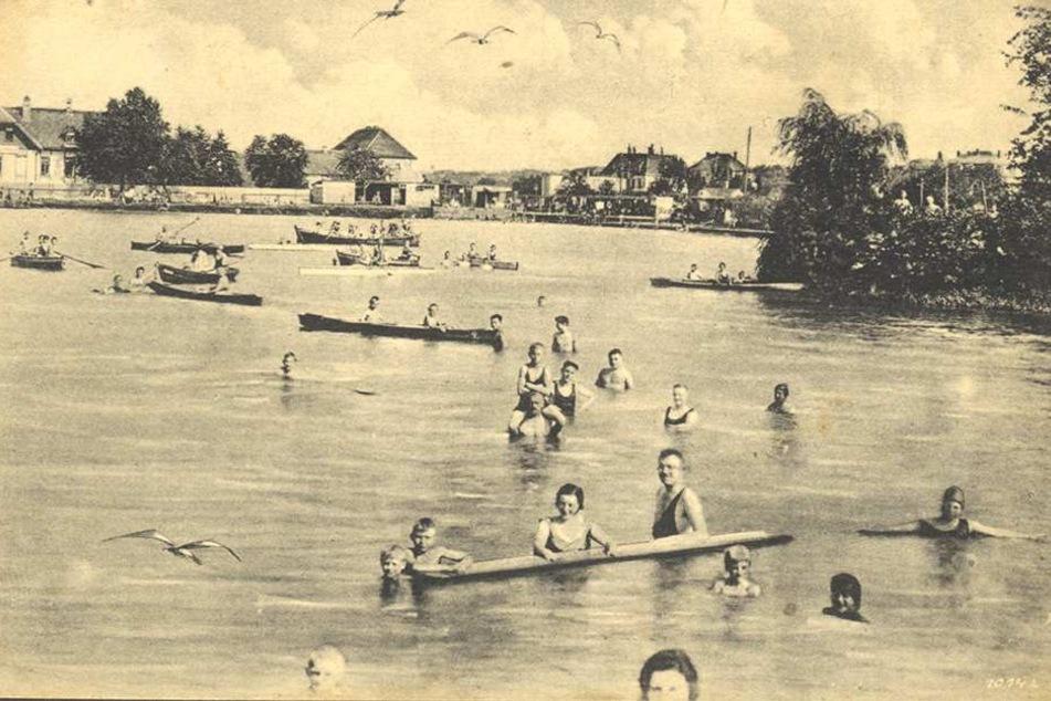 """So wurde 1926 im """"Familienbad Mockritz"""" geplantscht."""