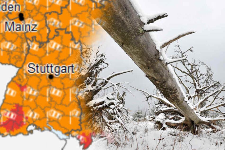 Orkanböen, Regen und Schnee: Darauf müsst Ihr Euch heute gefasst machen!