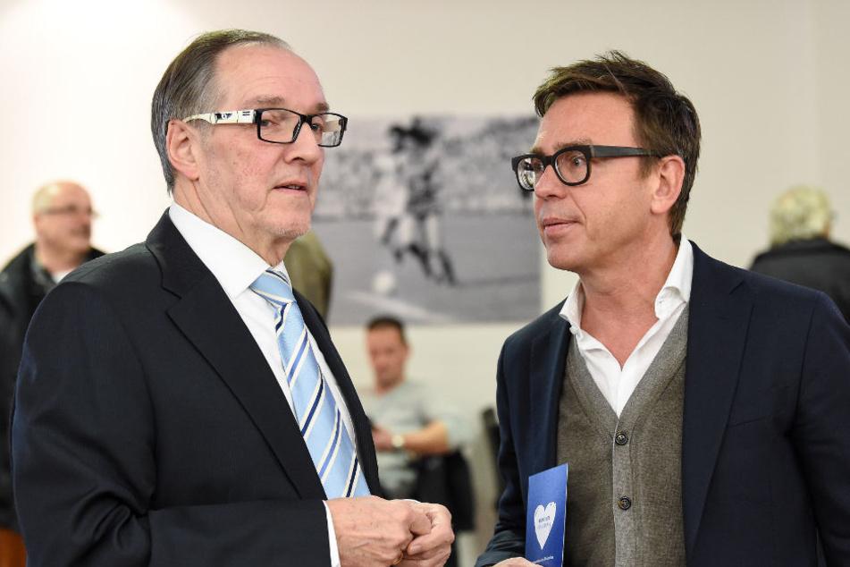 Hans-Jürgen Laufer (l.) und Markus Rejek wollen die Regel erhalten.