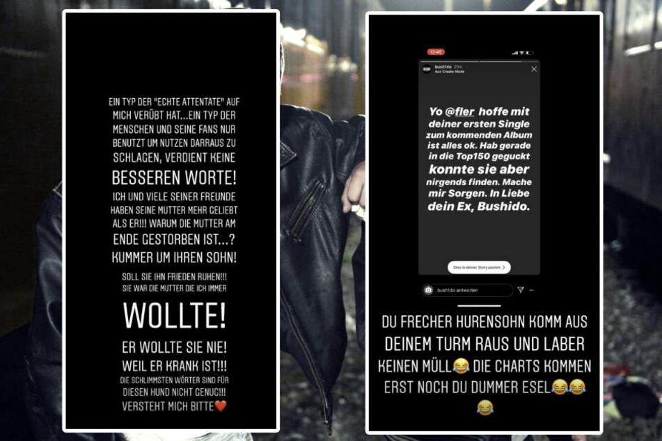 Auszüge aus Flers Instagram-Story. (Bildmontage)