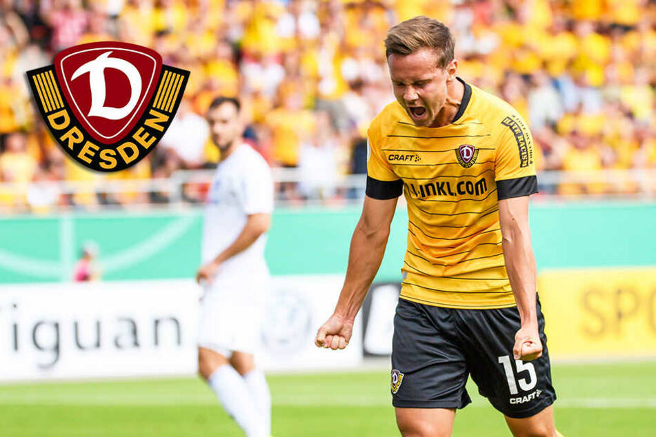 Frustbewältigung beim 3:0-Erfolg! Dynamo feiert im DFB-Pokal ersten Saisonsieg