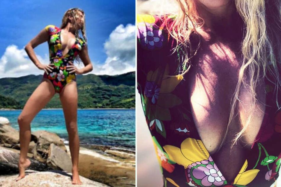 Giulia Siegel (45) zeigte ihrer Traumkörper auf den Seychellen. (Bildmontage)