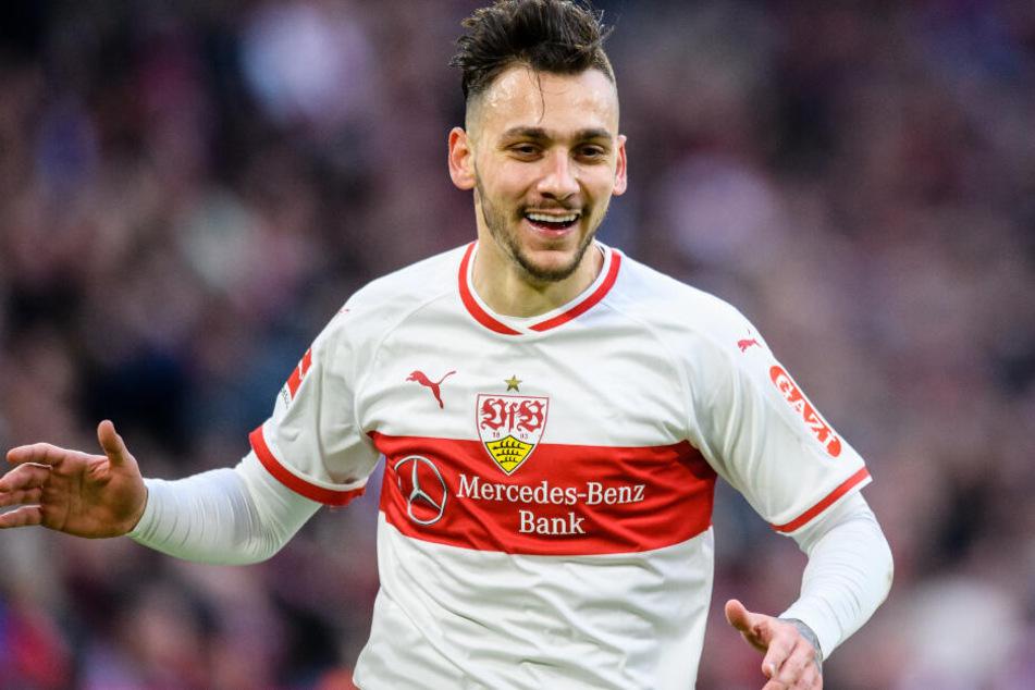 Noch im Trikot des VfB Stuttgart: Anastasios Donis.