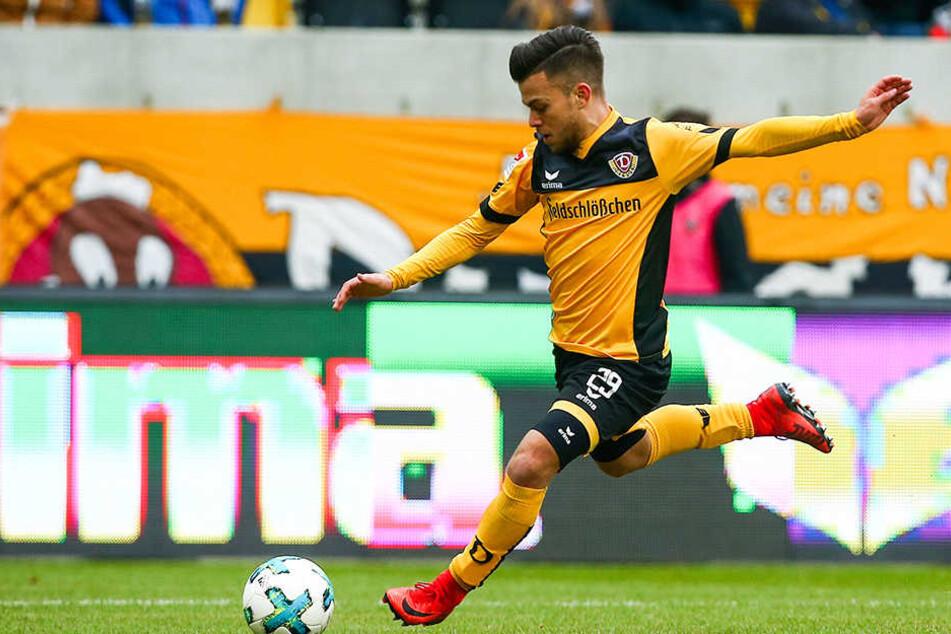 Sascha Horvath ist für Dynamo immer fleißig unterwegs. Sowohl auf dem Spielfeld als auch auf dem Trainingsrasen.