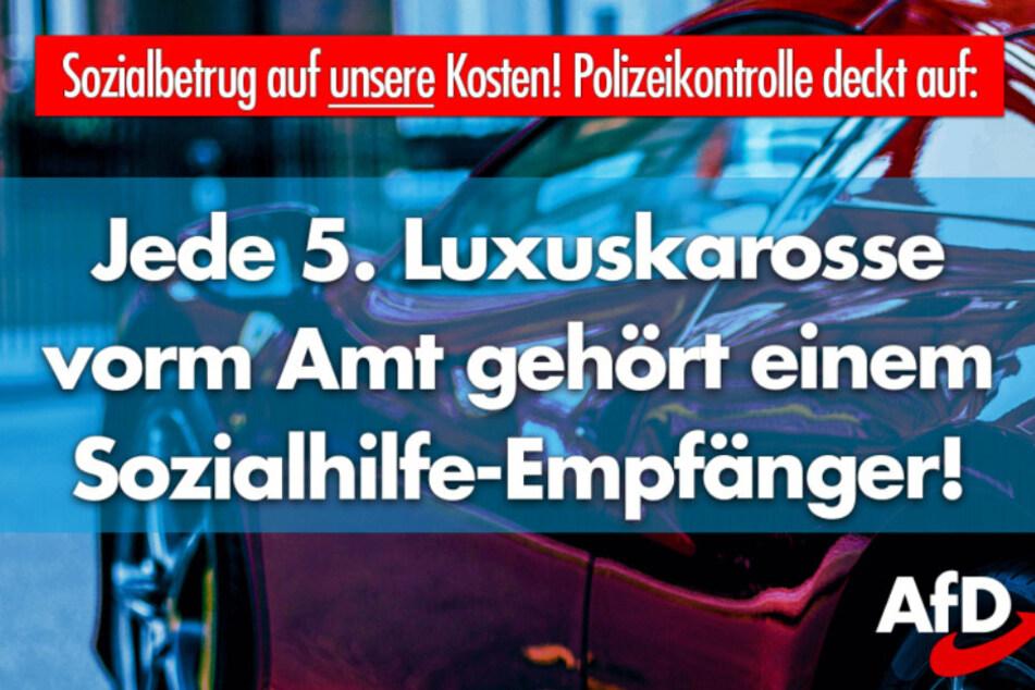 """Carsten Hütter warb selbst mit einem """"Sharepic"""" vor Betrügereien mit Luxusautos."""
