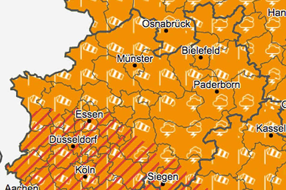 """""""Burglind"""" treibt auch weiterhin ihr Unwesen in NRW."""