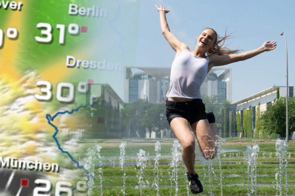 Am Mittwoch knackt Berlin die 30-Grad-Marke.