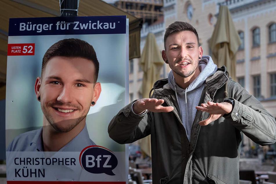 Im neuen Stadtrat: Zwickauer rappt sich zum Fraktionschef