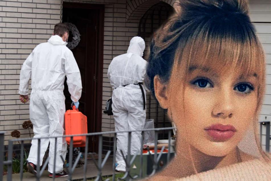 Ermittler durchsuchen das Haus, in dem Rebecca zuletzt die Nacht verbrachte. (Bildmontage)