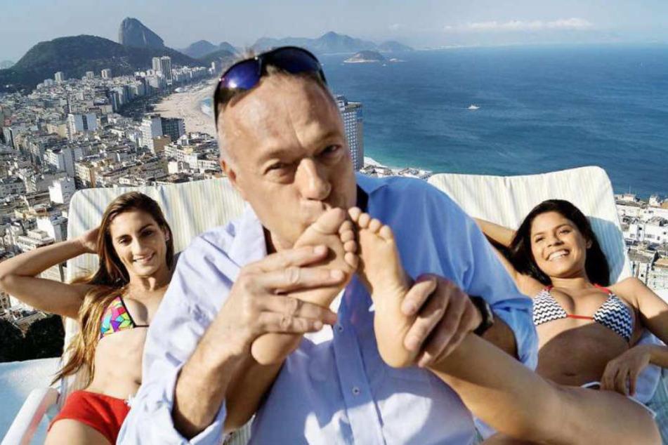 An der Copacabana lässt es sich der Auswanderer gutgehen.