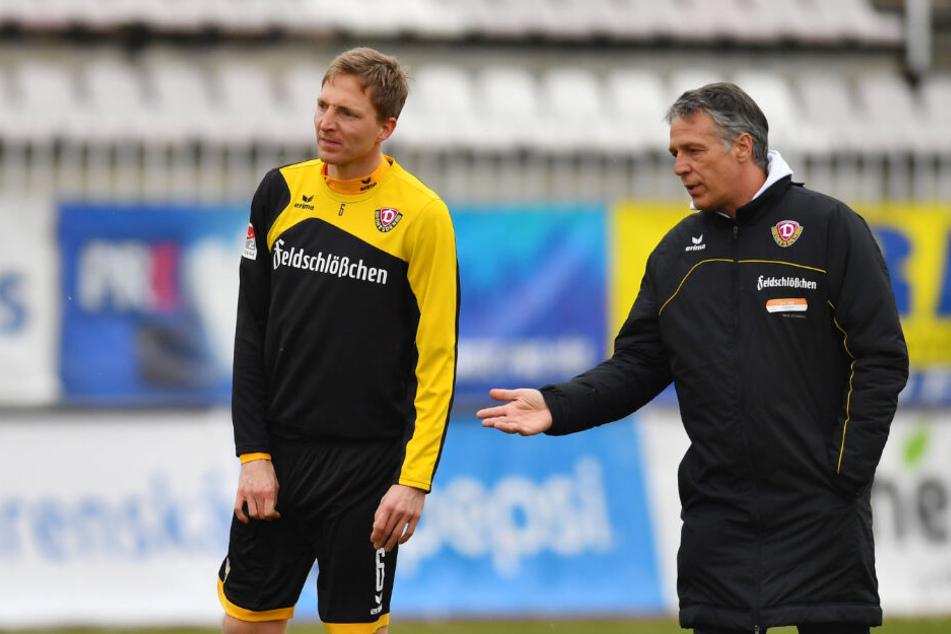 Sein längster Chef: Uwe Neuhaus machte Marco Hartmann (l.) in der Saison 2016/17 zum Kapitän.