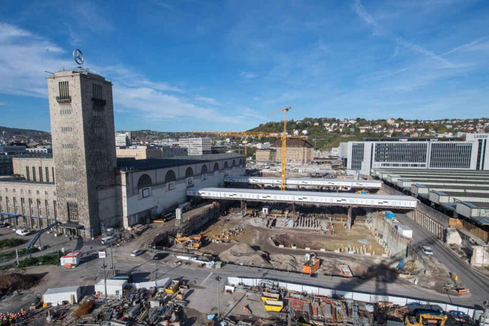Die Baustelle des Bauprojekts Stuttgart 21. Das Ganze soll nun deutlich teurer werden. (Archivbild)