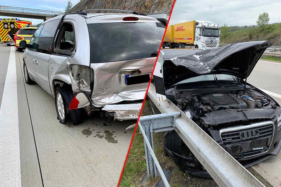 A17 teilweise gesperrt! Drei Fahrzeuge in Unfall verwickelt