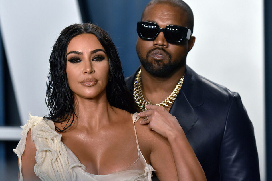 Kanye West (43) with his wife Kim Kardashian West (39). The rapper recently reveled that he suffers from bipolar disorder.