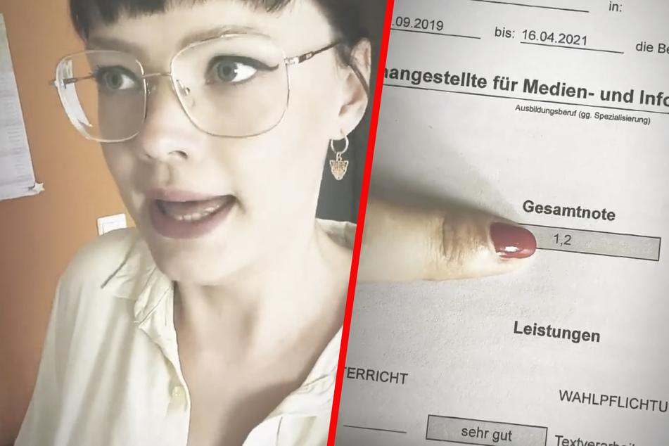 """""""Nur"""" eine 1,2; Franziska Mühlhause (31) ist mit ihrem Abschlusszeugnis nicht so ganz zufrieden."""