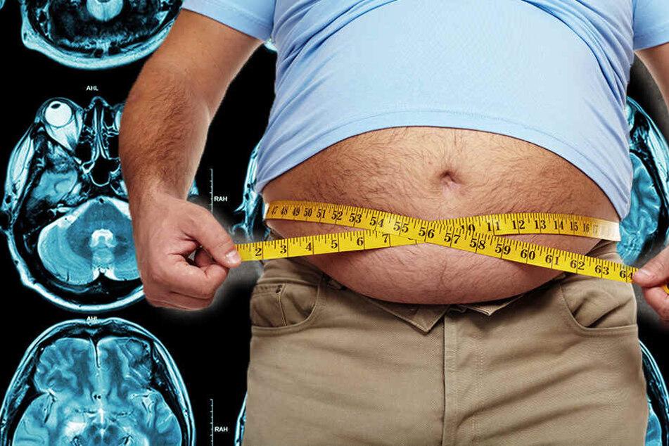 Schrumpft durch Übergewicht etwa das Gehirn?
