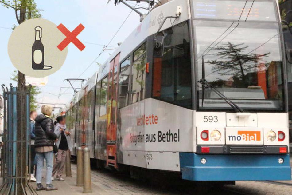 moBiel verbietet Alkohol in Bussen und Bahnen!