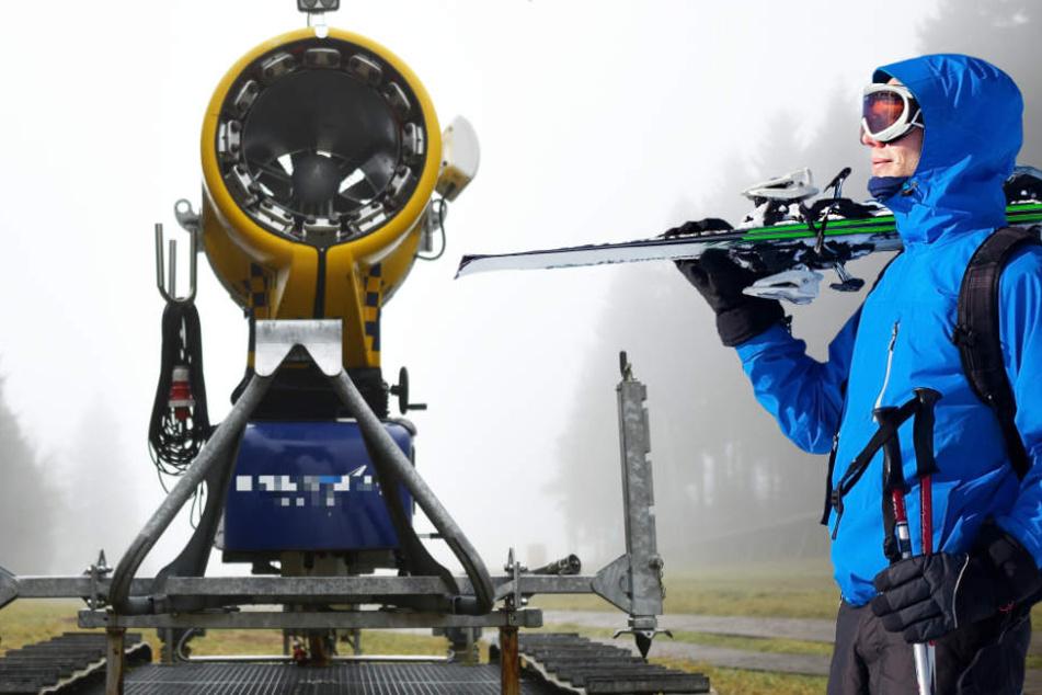 Eine Schneekanone braucht ausreichend Wasser, um Kunstschnee zu produzieren (Symbolbild).